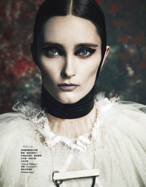 Iekeliene Stange is a Gothic Beauty for Vogue Taiwan February 2013 by Yossi Michaeli