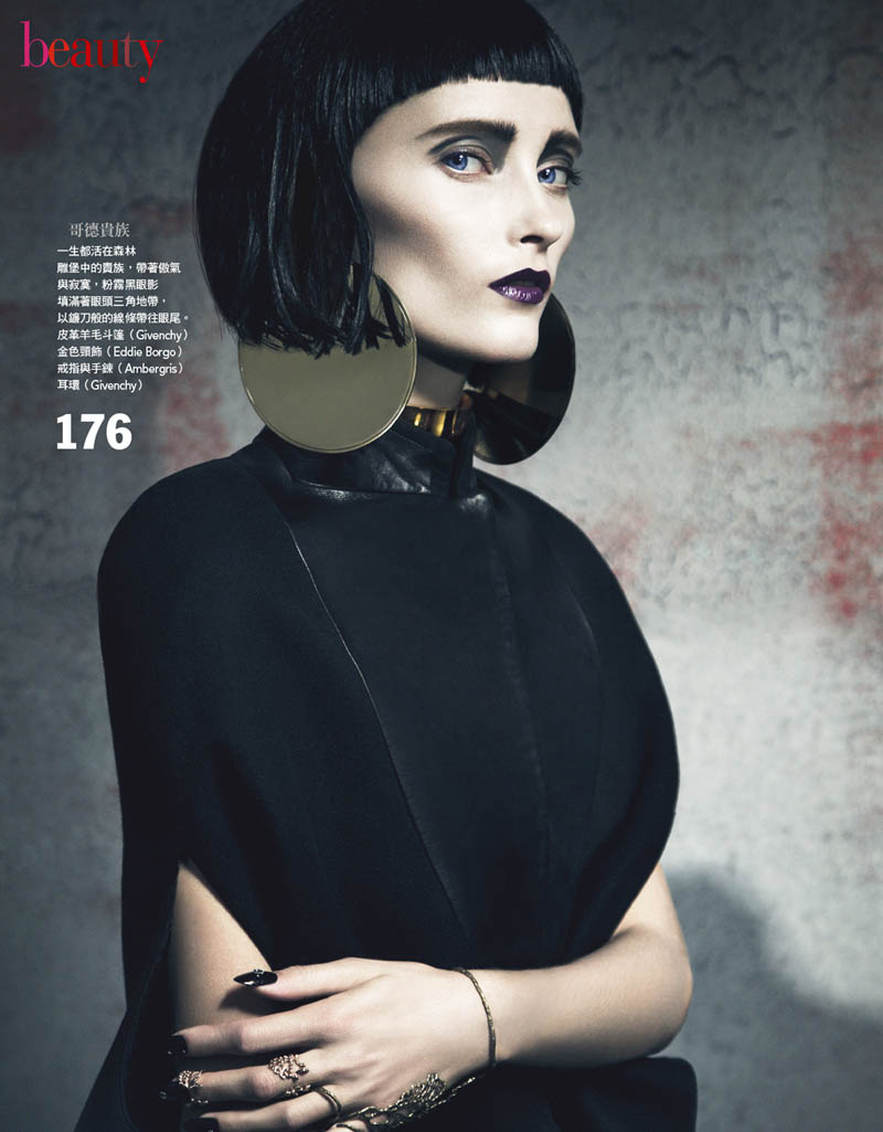 gothic vogue taiwan4 Iekeliene Stange is a Gothic Beauty for Vogue Taiwan February 2013 by Yossi Michaeli