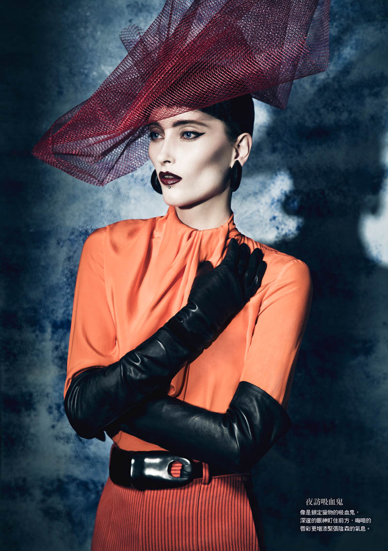 gothic vogue taiwan5 Iekeliene Stange is a Gothic Beauty for Vogue Taiwan February 2013 by Yossi Michaeli
