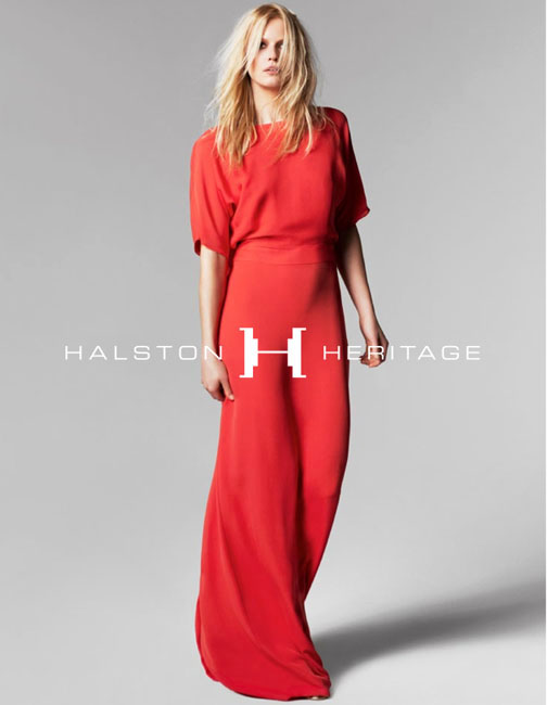 halston spring campaign2 Hartje Andresen Stars in Halston Heritage Spring 2013 Campaign