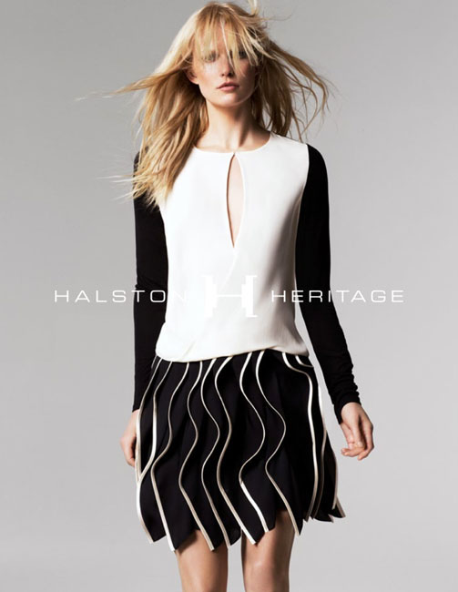 halston spring campaign4 Hartje Andresen Stars in Halston Heritage Spring 2013 Campaign