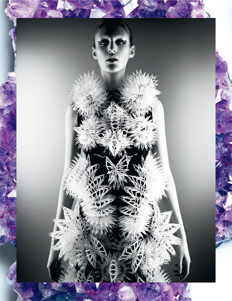 haute couture interview germany2 Franzi Mueller Dons Haute Couture for Interview Germany March 2013 by Markus Jans
