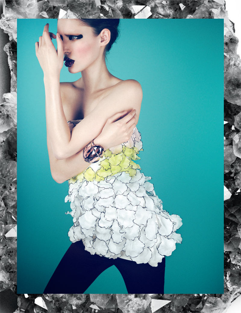 haute couture interview germany6 Franzi Mueller Dons Haute Couture for Interview Germany March 2013 by Markus Jans
