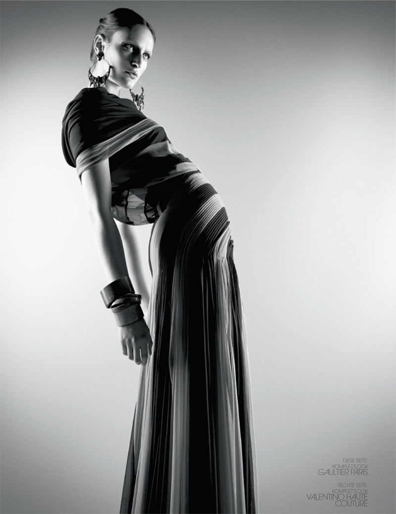 haute couture interview germany8 Franzi Mueller Dons Haute Couture for Interview Germany March 2013 by Markus Jans