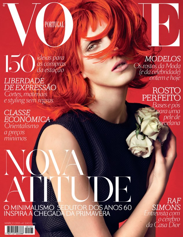 iris cover Iris Egbers Flaunts Red Hair for Vogue Portugals March 2013 Cover