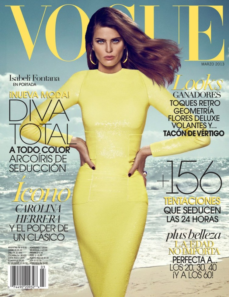 isabeli fontana koray birand vogue la11 Isabeli Fontana is a Golden Girl for Vogue Latin Americas March Cover Shoot by Koray Birand