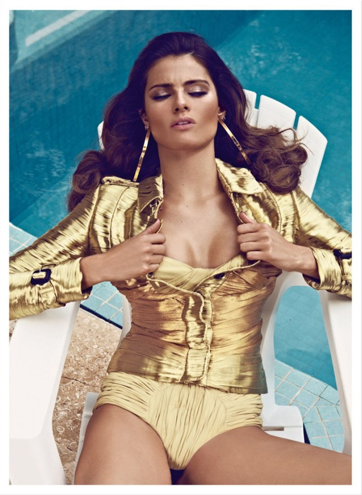 isabeli fontana koray birand vogue la3 Isabeli Fontana is a Golden Girl for Vogue Latin Americas March Cover Shoot by Koray Birand