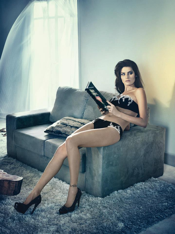 isabeli fontana lingerie campaign1 Isabeli Fontana Seduces for Un.i Lingerie Winter 2013 Campaign
