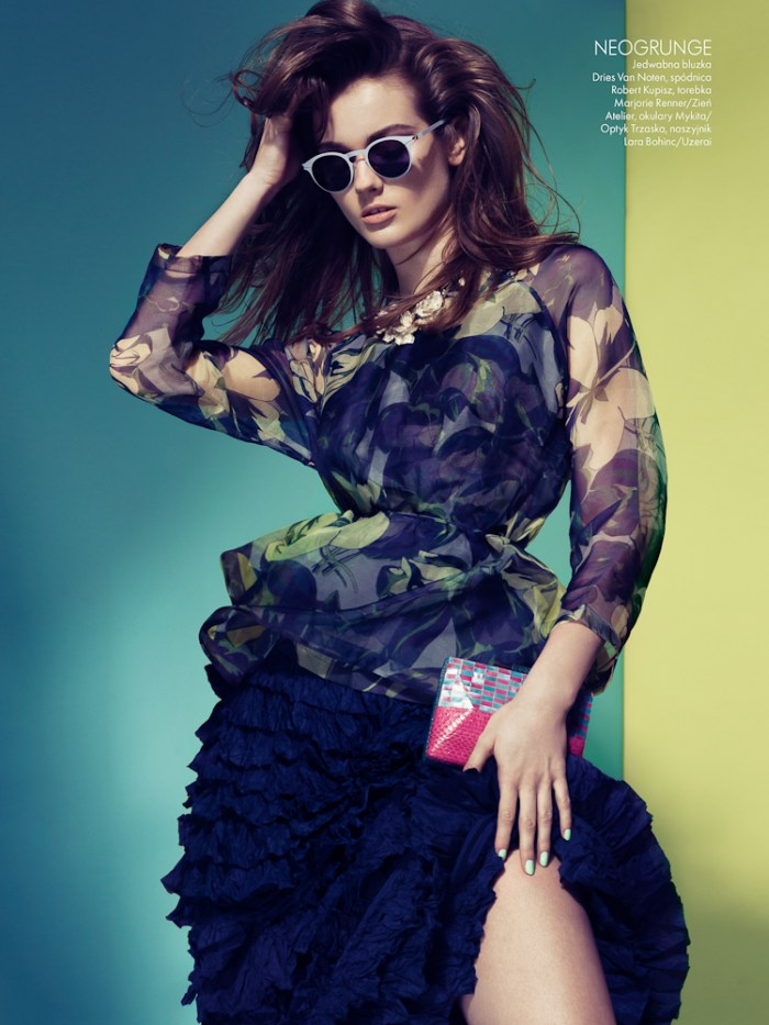 Jac Jagaciak Sports the Spring Collections for Elle Poland March 2013 by Remi Kozdra and Kasia Baczulis