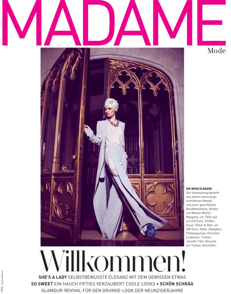 jamie nelson madame germany1 Lyoka Tyagnereva is Ladylike in Madame Germany March 2013 by Jamie Nelson