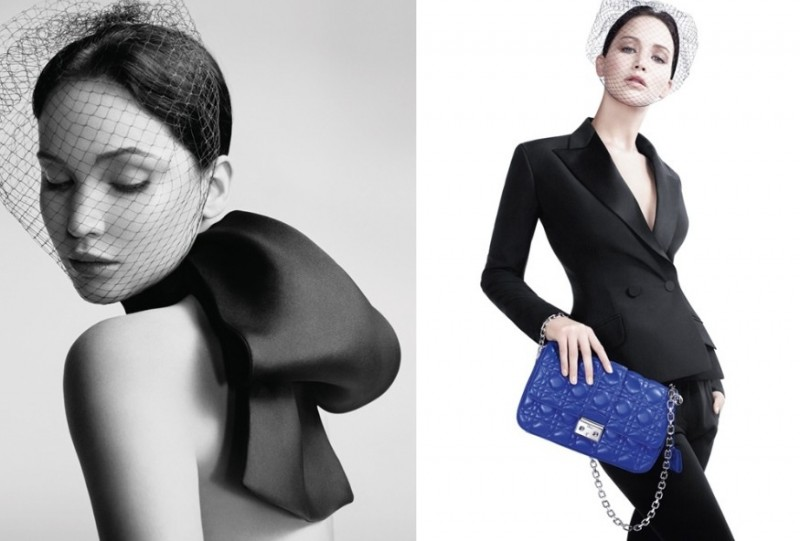 jennifer lawrence miss dior2 800x541 Jennifer Lawrence Stars in Miss Dior Spring 2013 Campaign by Willy Vanderperre