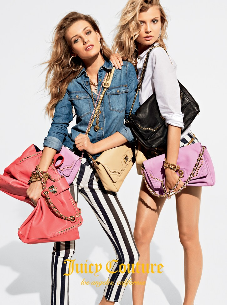 juicy couture mailer1 Anna Selezneva, Edita Vilkeviciute and Magdalena Frackowiak Model Juicy Coutures Spring 2013 Collection