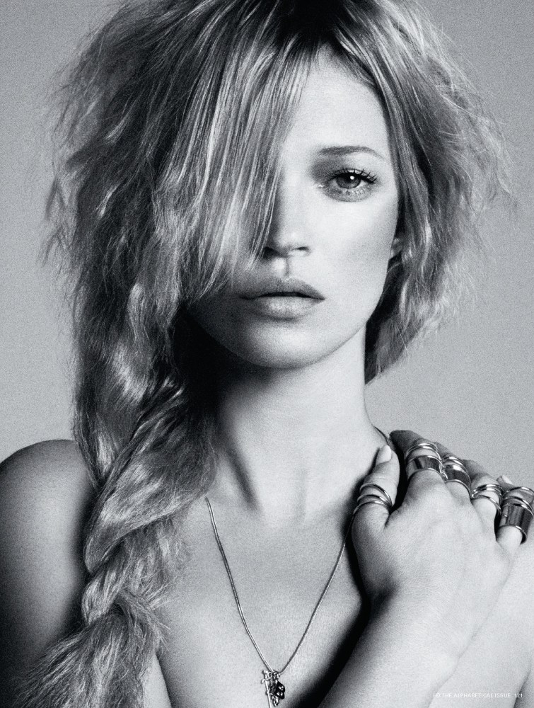 Kate Moss is Hair Fantastic for i-D's Pre-Spring Issue by Daniele & Iango