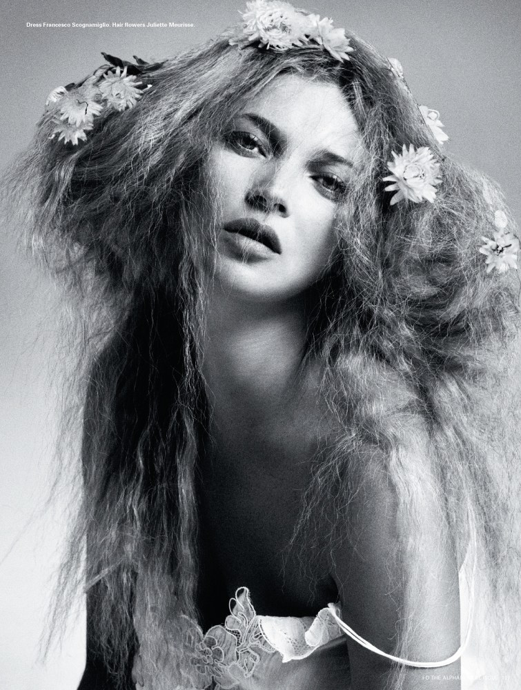 kate moss id7 Kate Moss is Hair Fantastic for i Ds Pre Spring Issue by Daniele & Iango