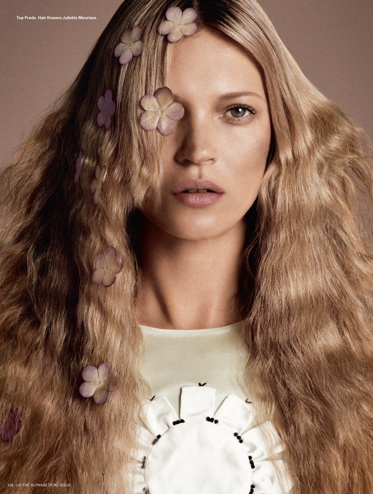 kate moss id8 Kate Moss is Hair Fantastic for i Ds Pre Spring Issue by Daniele & Iango