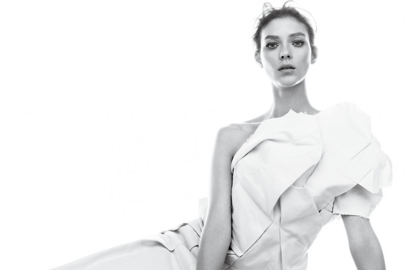 kati nescher wsj shoot1 800x533 Kati Nescher is White Hot for WSJ Magazine March 2013