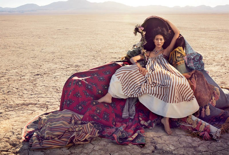 liu wen vogue australia will davidson1 Liu Wen Travels With the Circus for Vogue Australias March Issue by Will Davidson