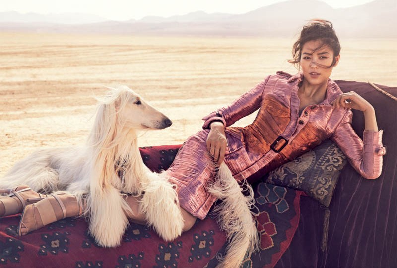 liu wen vogue australia will davidson4 Liu Wen Travels With the Circus for Vogue Australias March Issue by Will Davidson