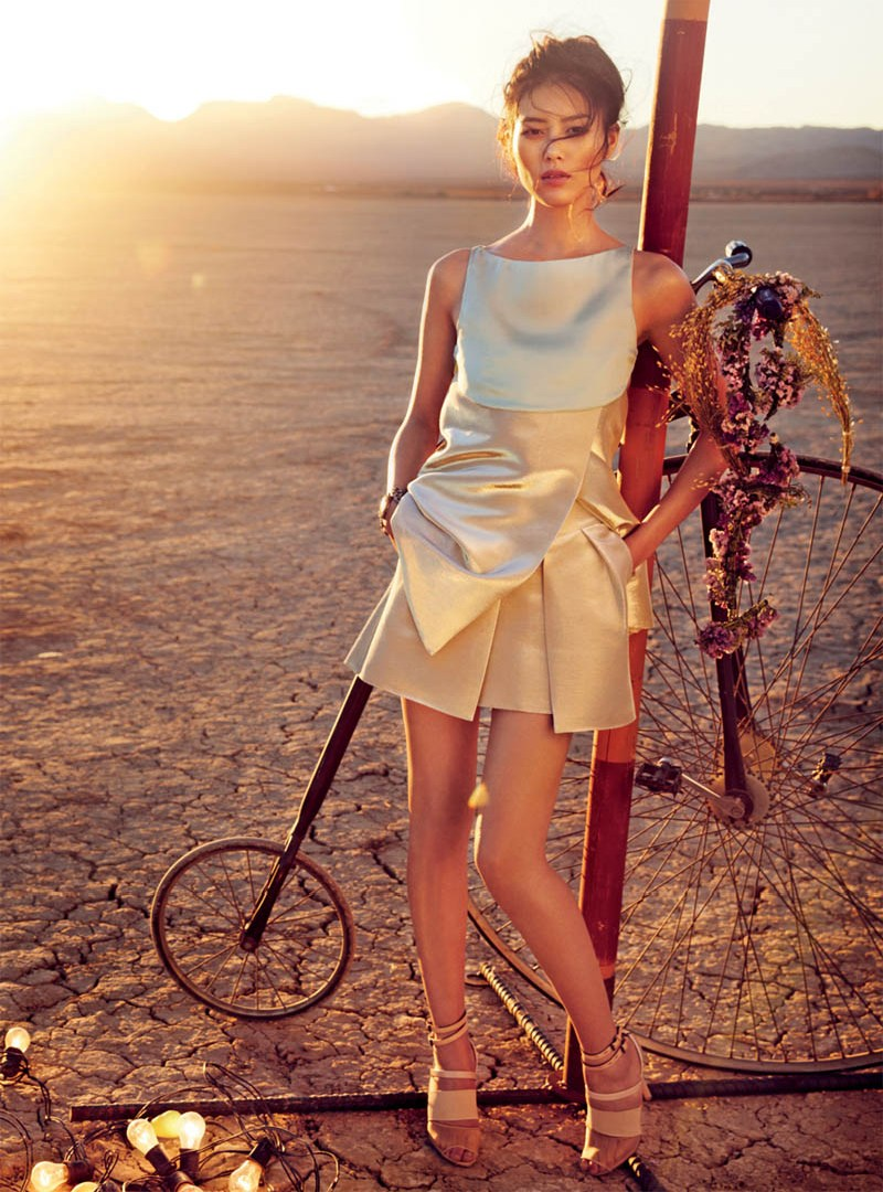 liu wen vogue australia will davidson5 Liu Wen Travels With the Circus for Vogue Australias March Issue by Will Davidson