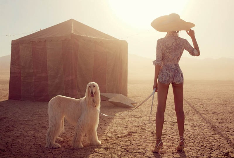 liu wen vogue australia will davidson8 Liu Wen Travels With the Circus for Vogue Australias March Issue by Will Davidson