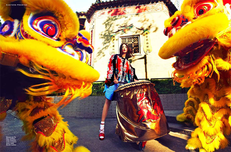miao stylist shoot8 Miao Bin Si Shines in the Streets of Hong Kong for Stylist Magazine S/S 2013