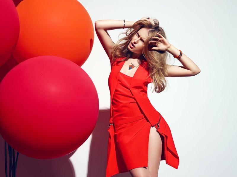 Erika Palkovicova Dons Monochromatic Style for Plaza Magazine