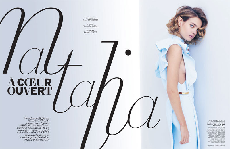 natalia vodianova lofficiel cover shoot1 Natalia Vodianova Stars in LOfficiel Paris March 2013 Cover Shoot