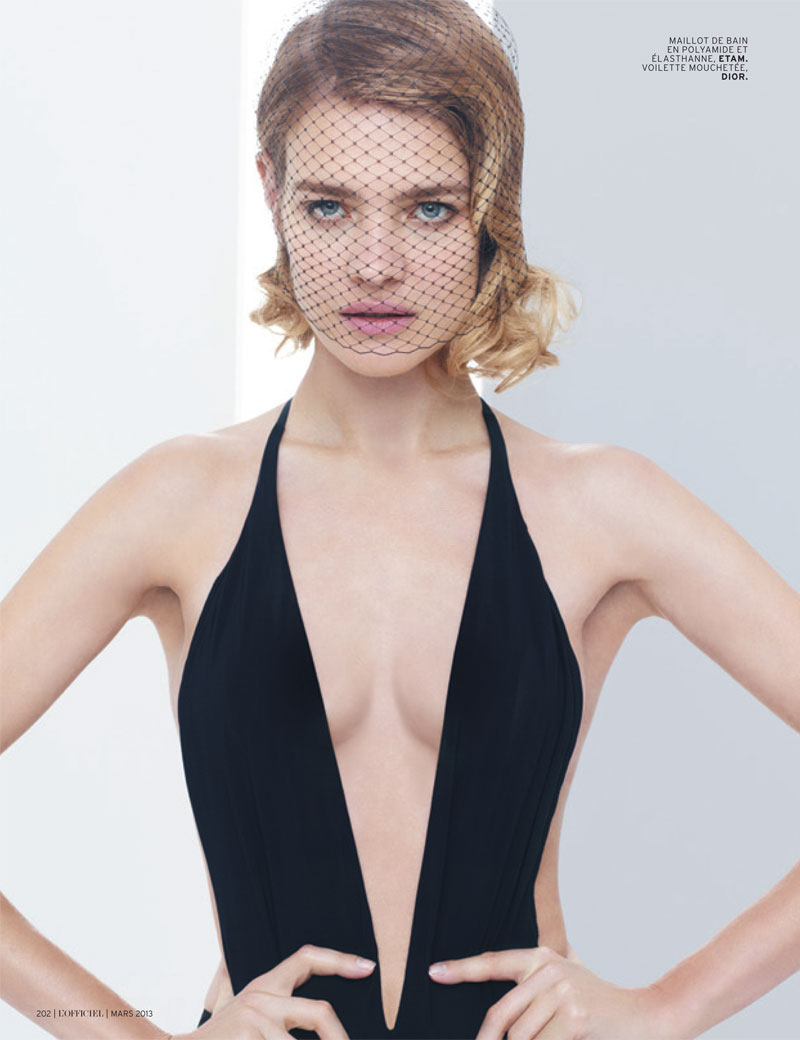 natalia vodianova lofficiel cover shoot3 Natalia Vodianova Stars in LOfficiel Paris March 2013 Cover Shoot