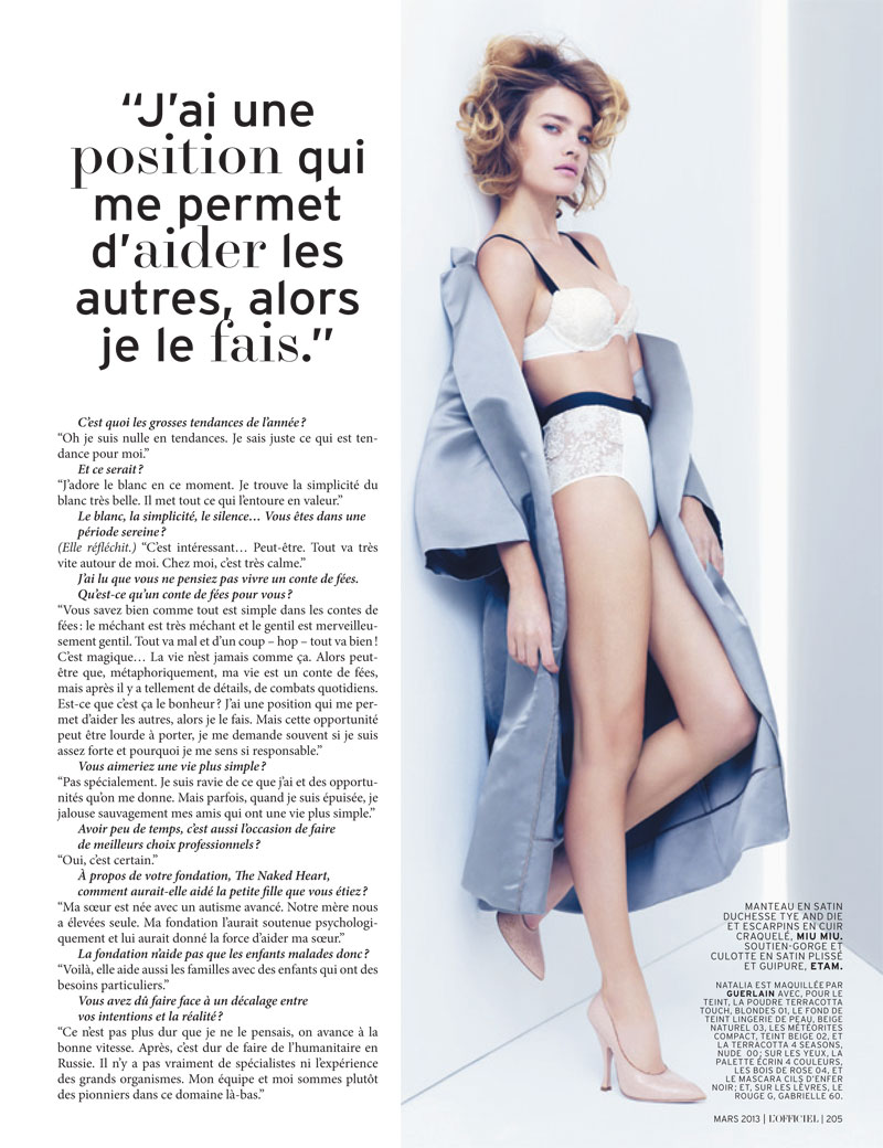 natalia vodianova lofficiel cover shoot6 Natalia Vodianova Stars in LOfficiel Paris March 2013 Cover Shoot