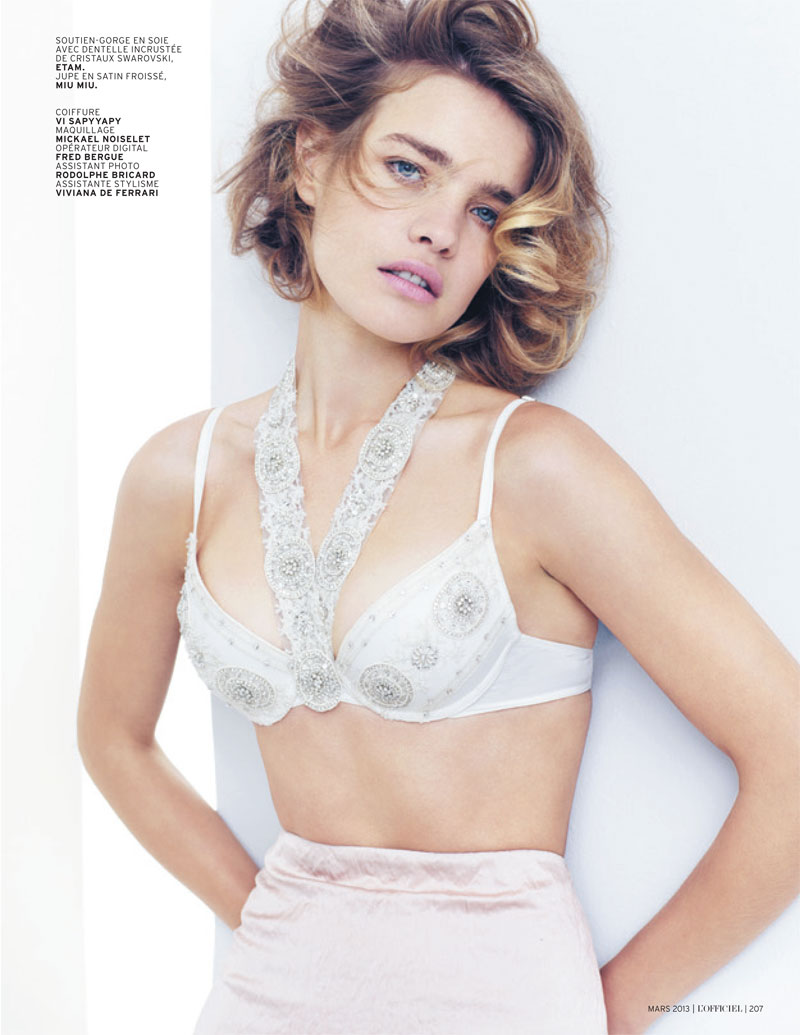 natalia vodianova lofficiel cover shoot8 Natalia Vodianova Stars in LOfficiel Paris March 2013 Cover Shoot
