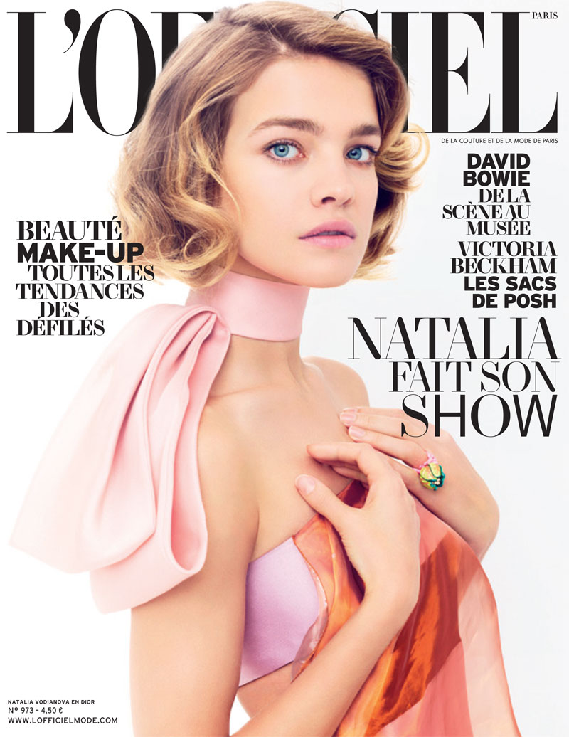 natalia vodianova lofficiel cover shoot9 Natalia Vodianova Stars in LOfficiel Paris March 2013 Cover Shoot
