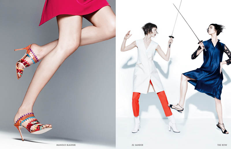 neiman marcus art of fashion10 Karlie Kloss and Vika Falileeva Front Neiman Marcus Art of Fashion Spring 2013 Campaign