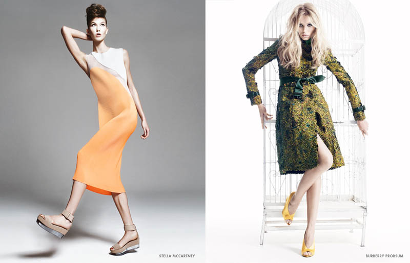 neiman marcus art of fashion12 Karlie Kloss and Vika Falileeva Front Neiman Marcus Art of Fashion Spring 2013 Campaign