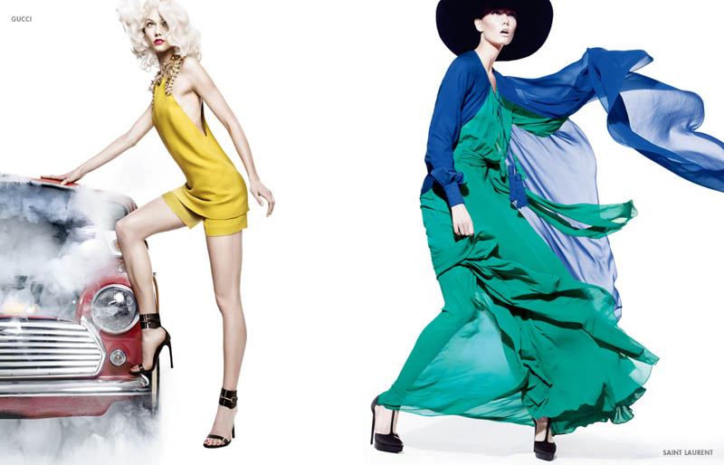 neiman marcus art of fashion13 Karlie Kloss and Vika Falileeva Front Neiman Marcus Art of Fashion Spring 2013 Campaign