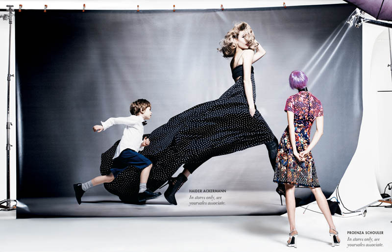 neiman marcus art of fashion14 Karlie Kloss and Vika Falileeva Front Neiman Marcus Art of Fashion Spring 2013 Campaign