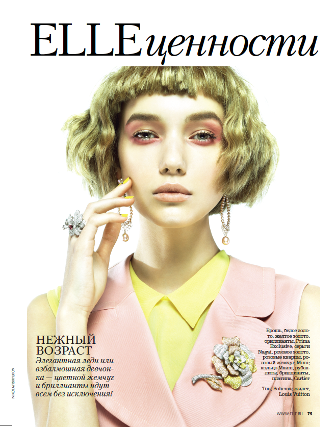 Cordelia Kuznetsova is Pretty in Pastels for Elle Russia March 2013 by Nikolay Biryukov