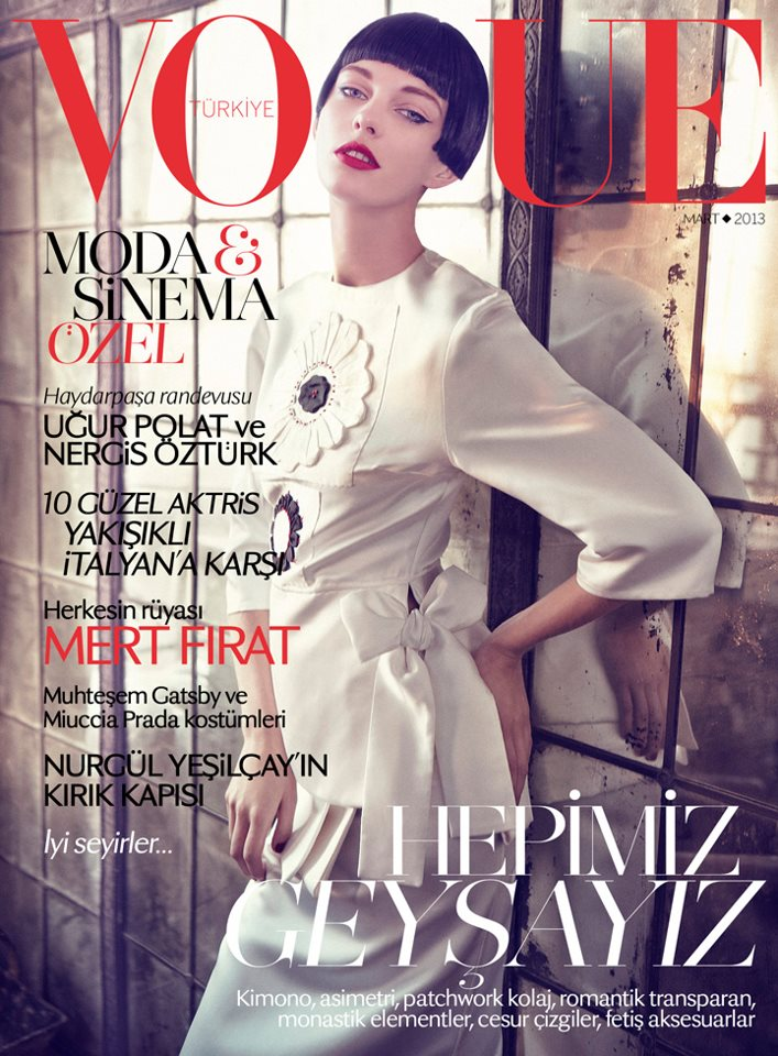 patricia vogue turkey cover Patricia van der Vliet Graces Vogue Turkeys March 2013 Cover in Prada