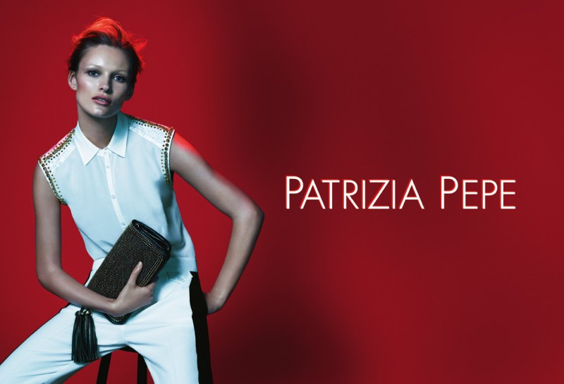 patrizia pepe spring campaign2 Edita Vilkeviciute Stars in Patrizia Pepes Spring 2013 Campaign by Mert & Marcus