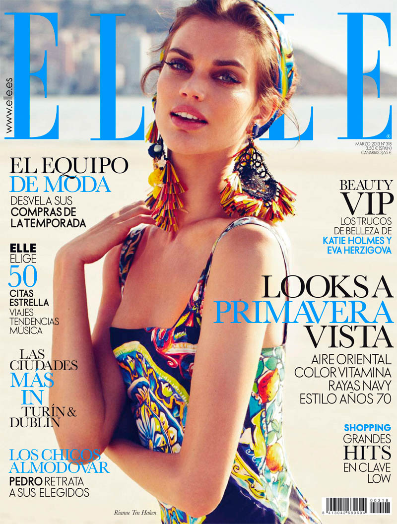Rianne ten Haken Poses for Xavi Gordo in Elle Spain's March 2013 Cover Shoot