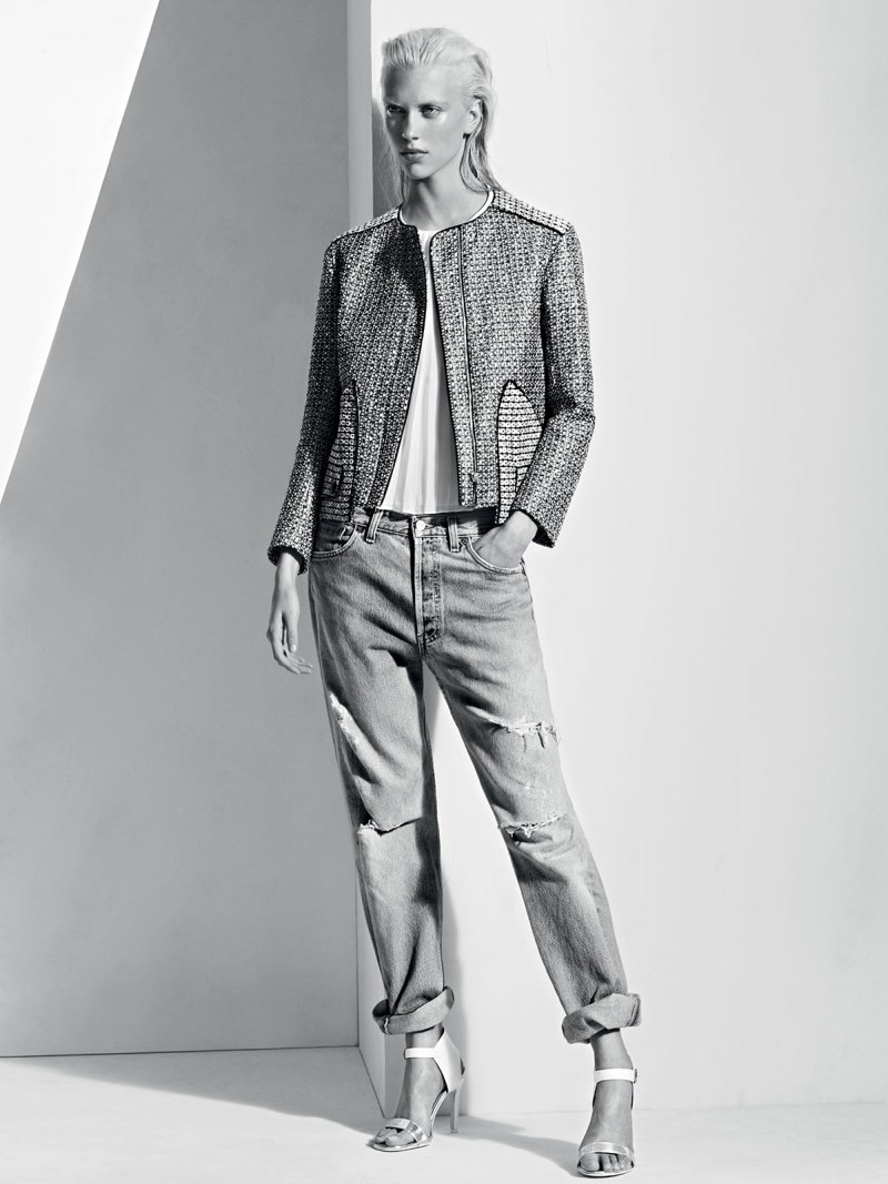 sandro spring summer7 Sandro Taps Juliana Schurig for its Spring 2013 Lookbook