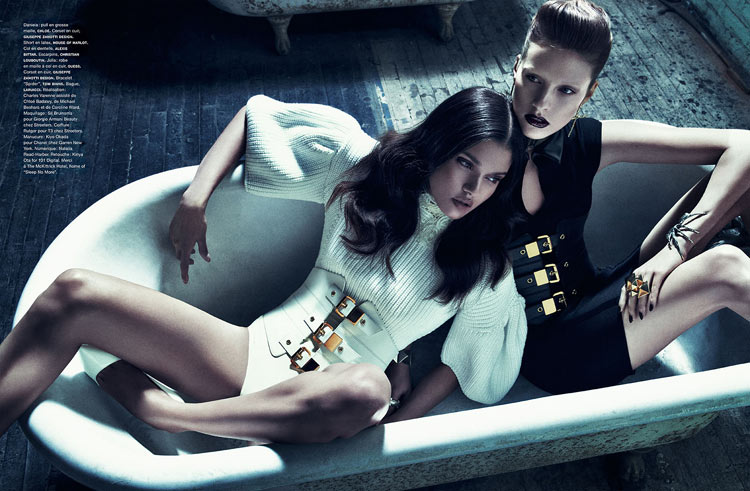 sebastian kim numero2 Julia Frauche and Daniela Braga Are Blood Sisters for Numéro #140 by Sebastian Kim