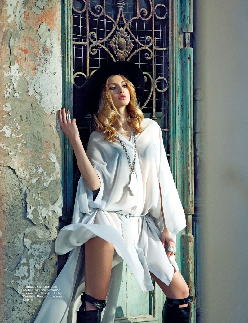 simona 2 Simona Andrejic Dons Homegrown Fashion for Elle Serbias March Issue