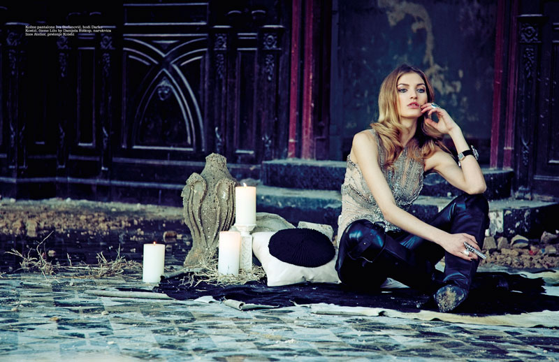 simona 4 Simona Andrejic Dons Homegrown Fashion for Elle Serbias March Issue