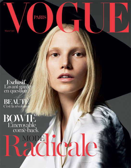 Suvi Koponen Lands First Vogue Paris Cover with March 2013 Issue