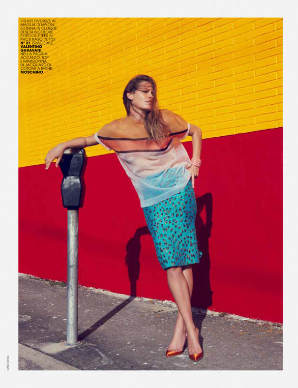 tanga mc italia3 Tanga Moreau Dons Graphic Prints for Marie Claire Italia February 2013 by Nagi Sakai