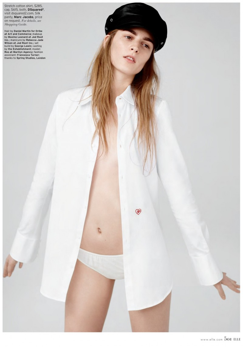 Ros Georgiou Sports Minimal Luxe for Elle US March 2013 by Thomas Whiteside
