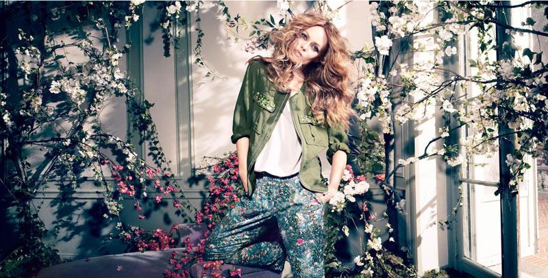 vanessa paradis hm conscious campaign1 Vanessa Paradis Enchants in H&Ms Spring 2013 Conscious Campaign by Camilla Akrans