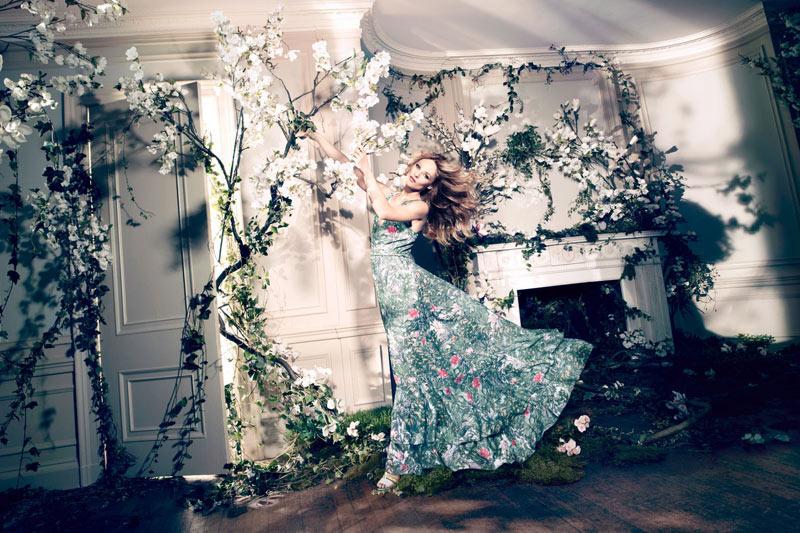 vanessa paradis hm conscious campaign2 Vanessa Paradis Enchants in H&Ms Spring 2013 Conscious Campaign by Camilla Akrans