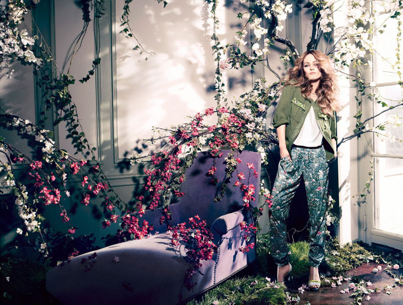 vanessa paradis hm conscious campaign4 Vanessa Paradis Enchants in H&Ms Spring 2013 Conscious Campaign by Camilla Akrans