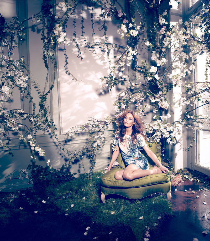 vanessa paradis hm conscious campaign5 Vanessa Paradis Enchants in H&Ms Spring 2013 Conscious Campaign by Camilla Akrans